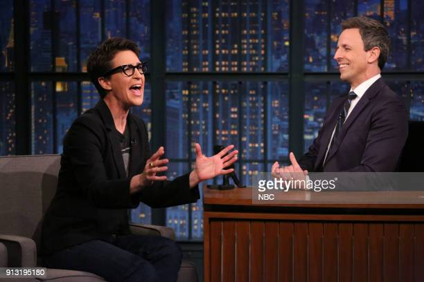 Rachel Maddow during an interview with host Seth Meyers on February 1 2018