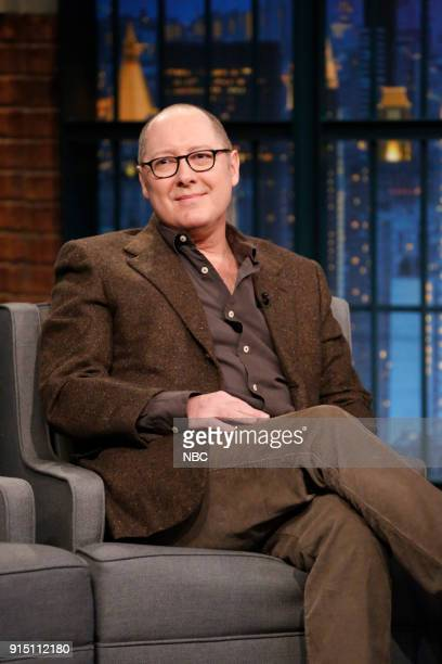 Actor James Spader during an interview on February 6 2018