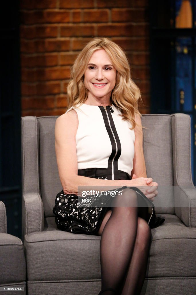 Actress Holly Hunter during an interview on February 8, 2018 --