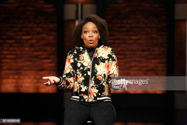 Writer Amber Ruffin during the sketch 'Amber Says What' on February 26 2018