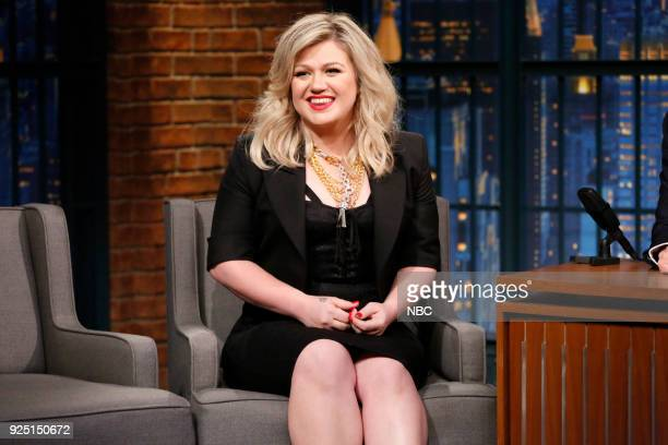 Episode 651 -- Pictured: Singer Kelly Clarkson during an interview on February 27, 2018 --