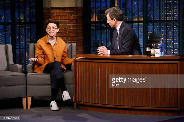 Actor JJ Totah during an interview with host Seth Meyers on March 1 2018