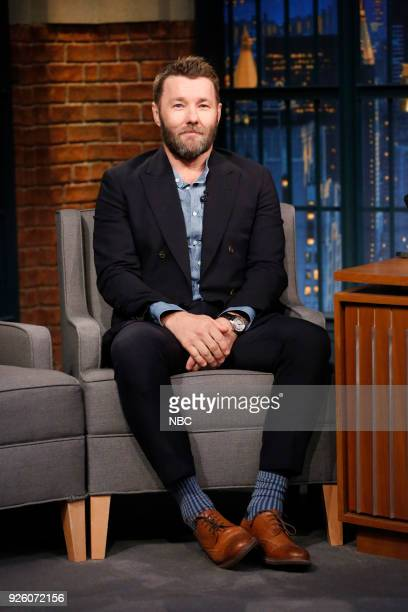 Actor Joel Edgerton during an interview on March 1 2018