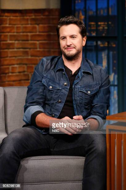 Country singer Luke Bryan during an interview on March 6 2018
