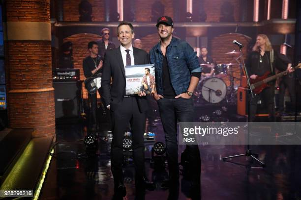 Host Seth Meyers and musical guest Luke Bryan on March 6 2018