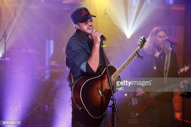 Musical guest Luke Bryan performs on March 6 2018