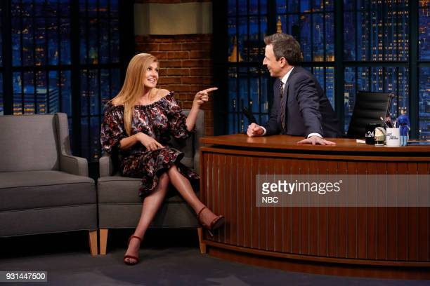 Actress Connie Britton during an interview with host Seth Meyers on March 12 2018