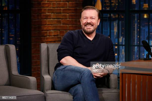 Comedian Ricky Gervais during an interview on March 14 2018