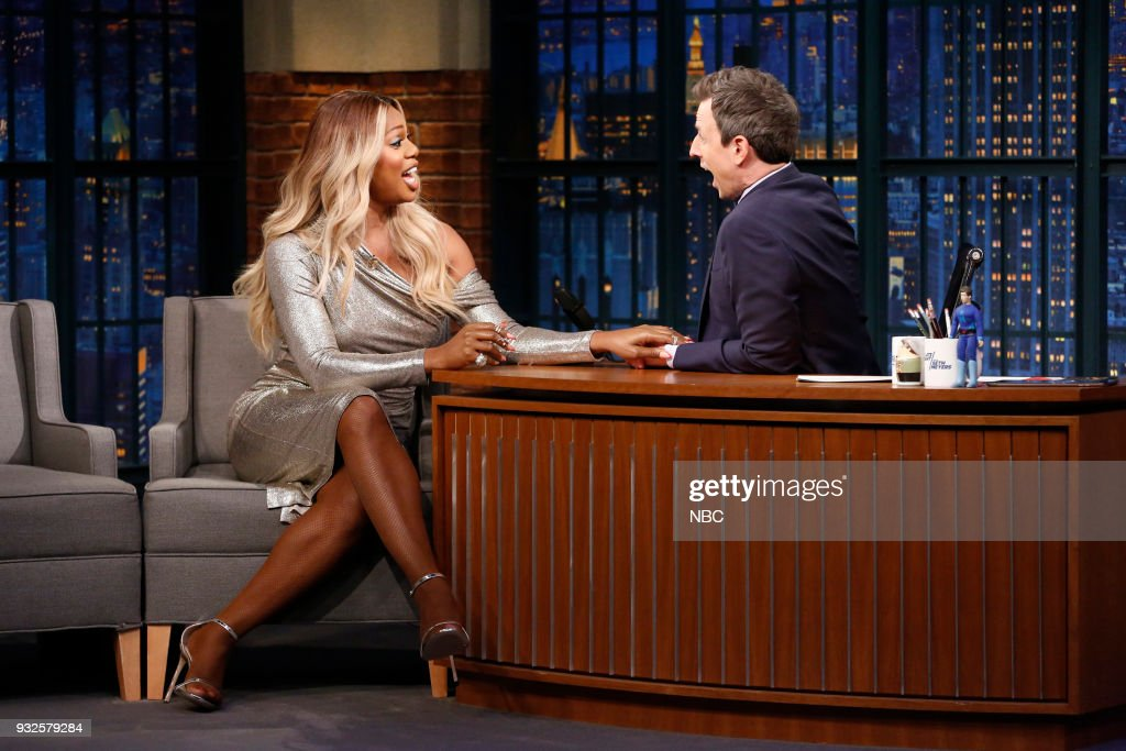 "NBC's ""Late Night Wth Seth Meyers"" With Guests John Cleese, Laverne Cox, Roy Wood Jr."