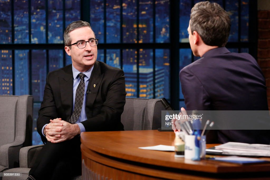"NBC's ""Late Night with Seth Meyers"" With Guests John Oliver, Laura Benanti, Blake Shelton"