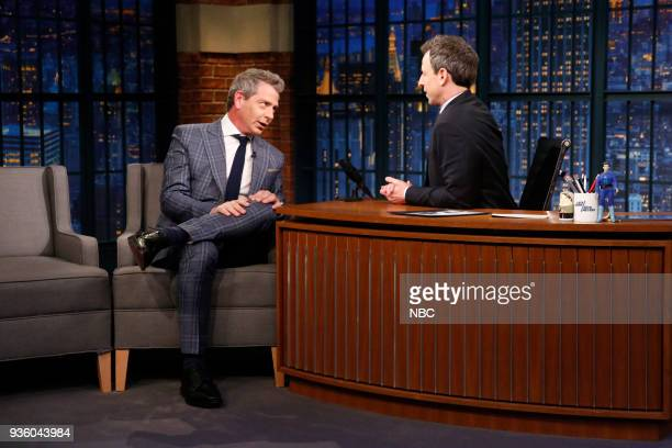Actor Ben Mendelsohn during an interview with host Seth Meyers on March 21 2018