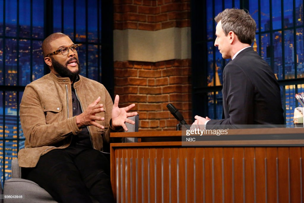 "NBC's ""Late Night With Seth Meyer"" With Guests Tyler Perry, Ben Mendelsohn, McKay Coppins"