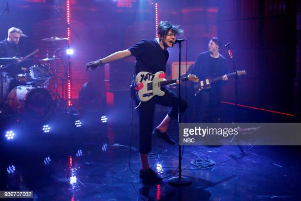 Dominic Harrison of musical guest Yungblud performs on March 22 2018