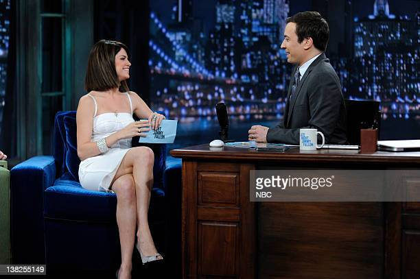 FALLON Episode 67 Airdate Pictured Actress Selena Gomez during an interview with Jimmy Fallon on June 16 2009