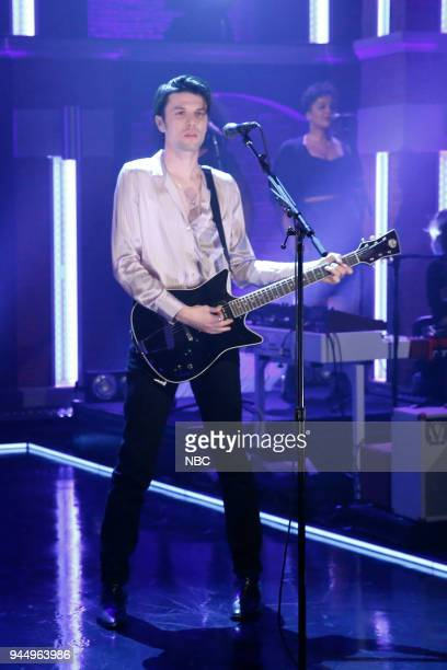 Musical guest James Bay performs on April 11 2018