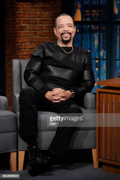 Episode 675 -- Pictured: Actor/musician Ice T during an interview on April 24, 2018 --