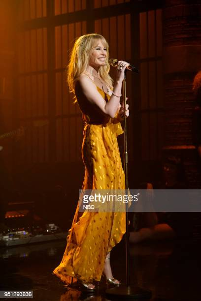 Musical guest Kylie Minogue performs on April 25 2018