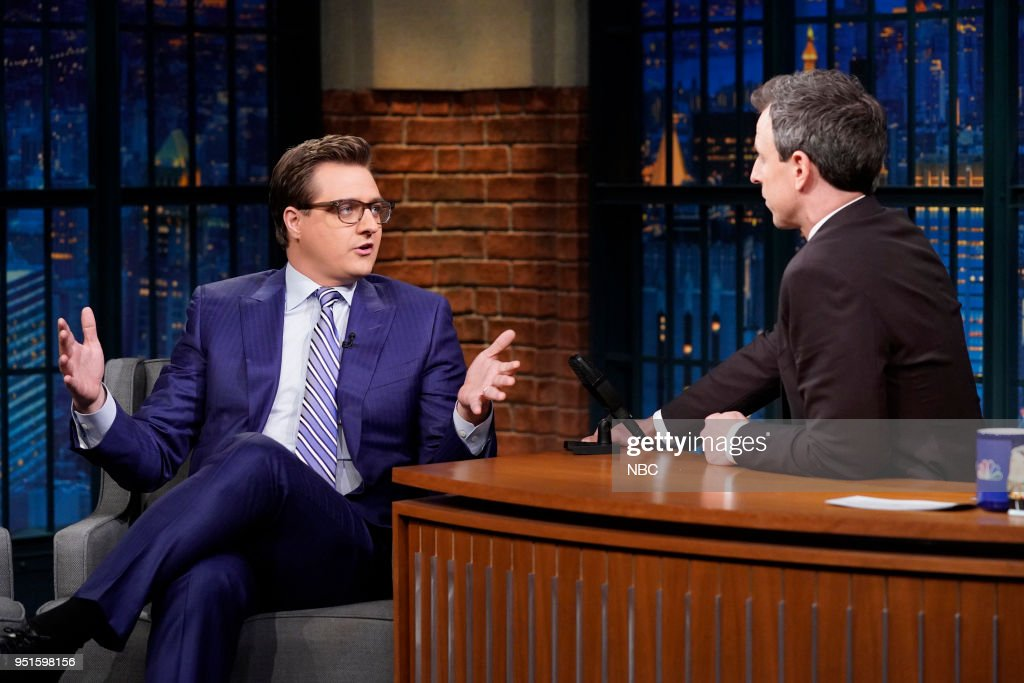 "NBC's ""Late Night With Seth Meyers"" With Guests Chris Hayes, Brian Koppelman & David Levien"