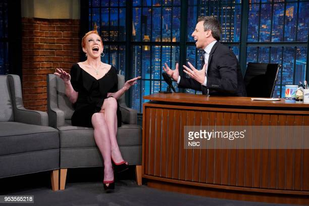 Comedian Kathy Griffin during an interview with host Seth Meyers on May 1 2018
