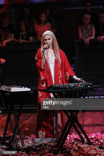 Episode 682 -- Pictured: Musician Grimes on August 14, 2012 --