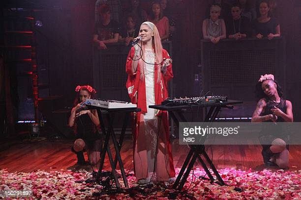 Musician Grimes on August 14 2012