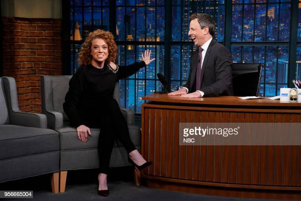 Comedian Michelle Wolf during an interview with host Seth Meyers on May 9 2018