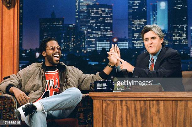 Actor Kadeem Hardison during an interview with host Jay Leno on May 5 1995