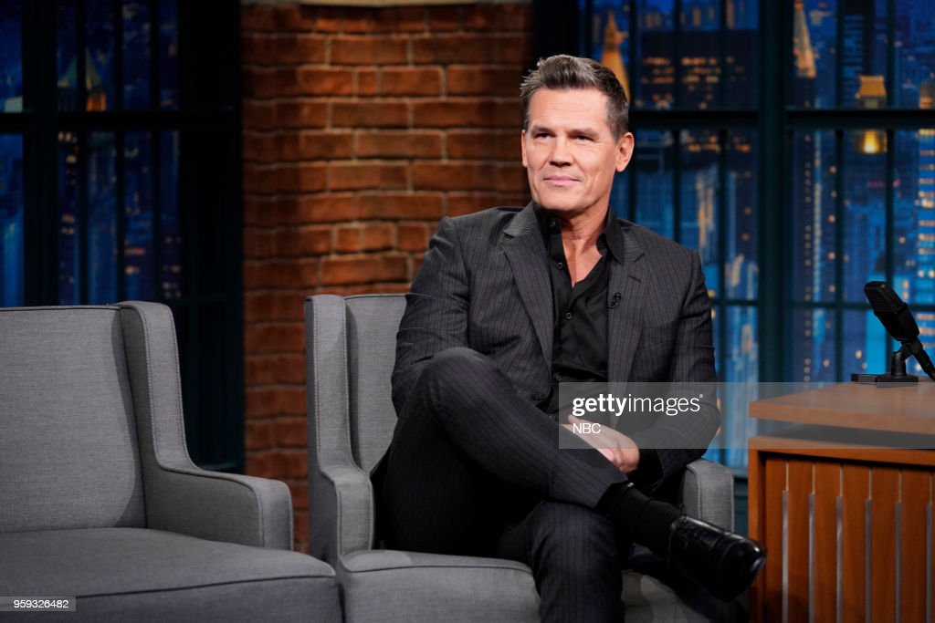 Actor Josh Brolin during an interview on May 16, 2018 --