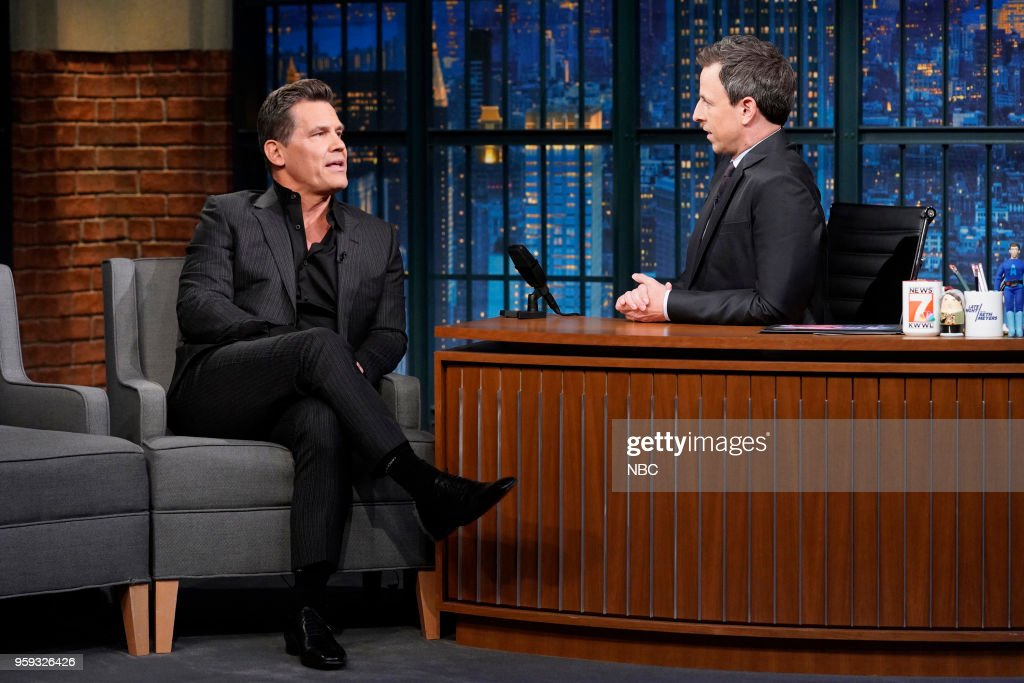 Actor Josh Brolin during an interview with host Seth Meyers on May 16, 2018 --