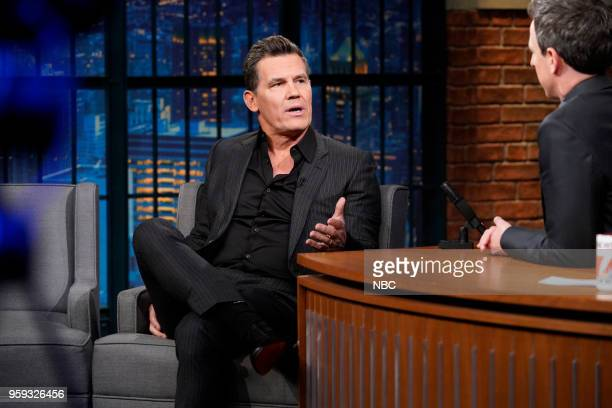 Actor Josh Brolin during an interview with host Seth Meyers on May 16 2018