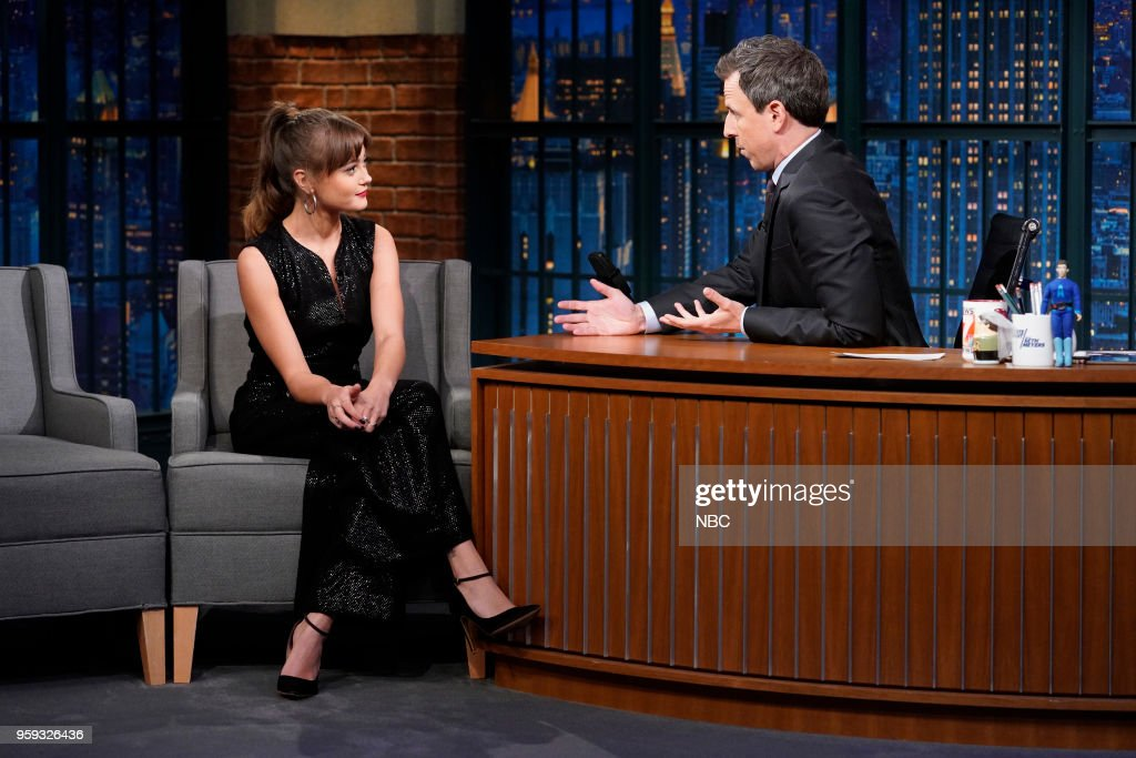 Actress Ella Purnell during an interview with host Seth Meyers on May 16, 2018 --