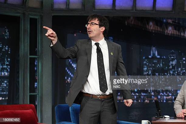 Comedian John Oliver during an interview on August 22 2012