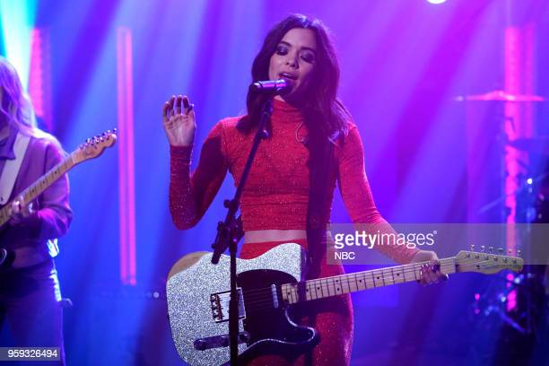Cristal Ramirez of musical guest 'The Aces' performs on May 16 2018
