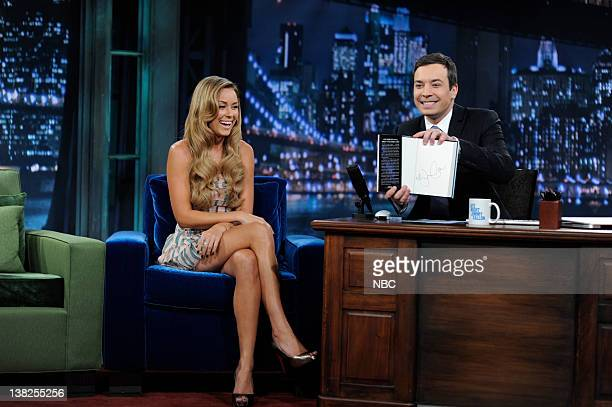 FALLON Episode 69 Airdate Pictured Author Lauren Conrad during an interview with Jimmy Fallon on June 18 2009