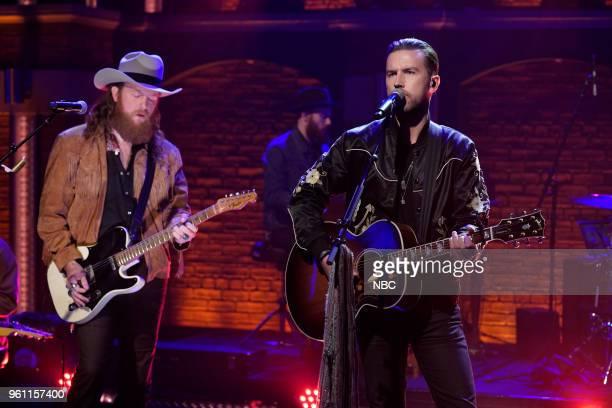 John Osborne and TJ Osborne of musical guest Brothers Osborne perform on May 21 2018