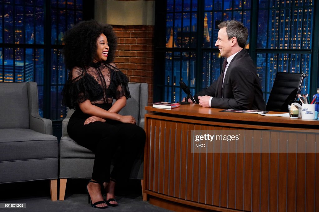 Comedian Phoebe Robinson during an interview with host Seth Meyers on May 22, 2018 --