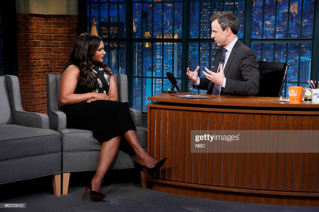 "NBC's ""Late Night With Seth Meyers"" With Guests Mindy Kaling, Ellie Kemper, Liz Garbus"