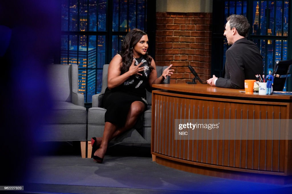 Actress Mindy Kaling During An Interview With Host Seth Meyers On May News Photo Getty Images