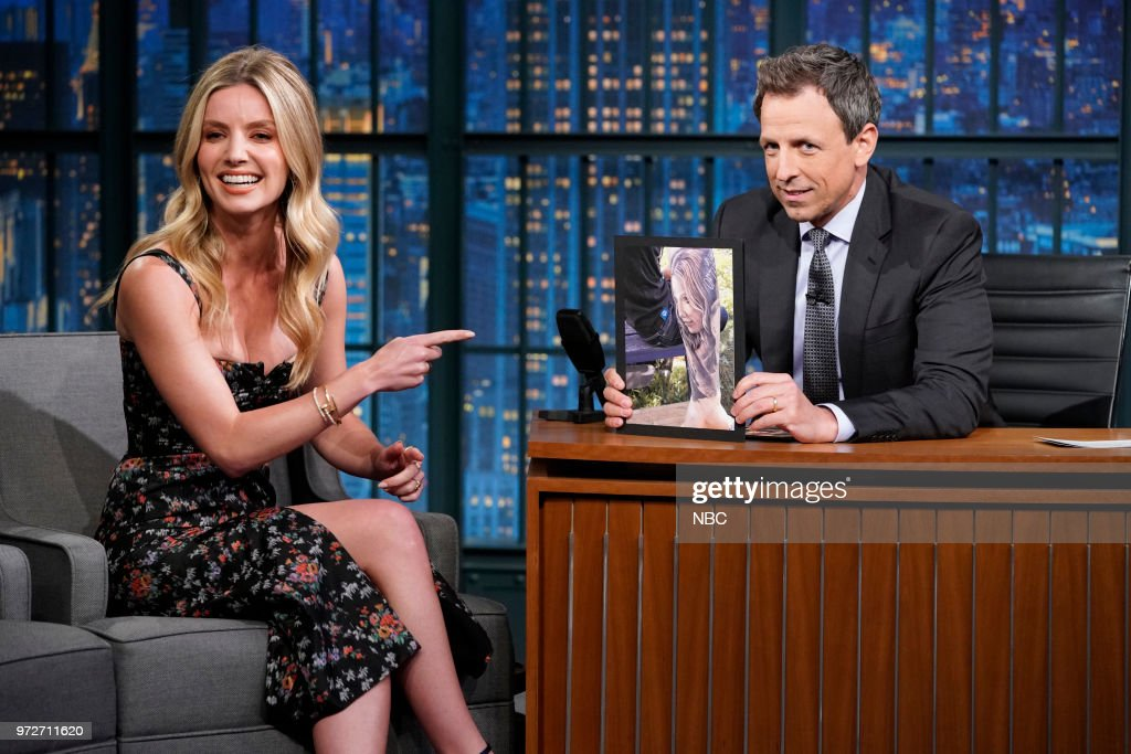 Actress Annabelle Wallis during an interview with host Seth Meyers on June 12, 2018 --