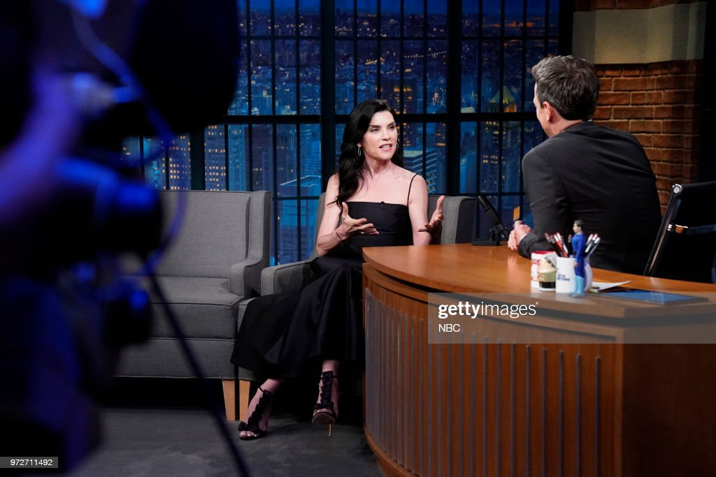 Actress Julianna Margulies during an interview with host Seth Meyers on June 12, 2018 --