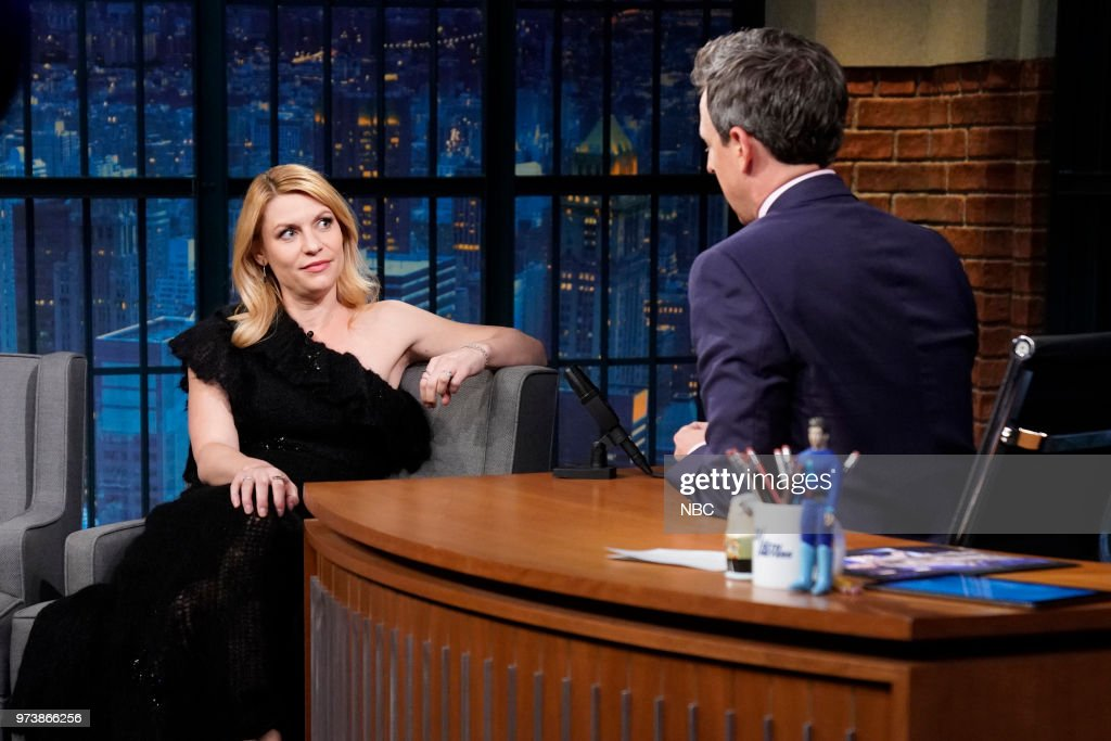 Actress Claire Danes during an interview with host Seth Meyers on June 13, 2018 --