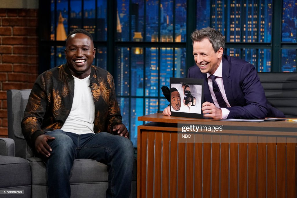 Comedian Hannibal Buress during an interview with host Seth Meyers on June 13, 2018 --