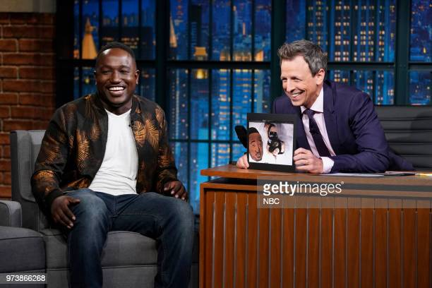 Comedian Hannibal Buress during an interview with host Seth Meyers on June 13 2018
