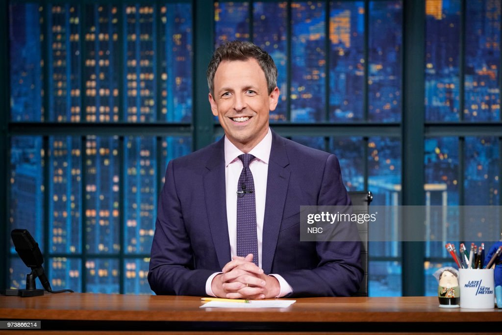 Host Seth Meyers during the monologue on June 13, 2018 --
