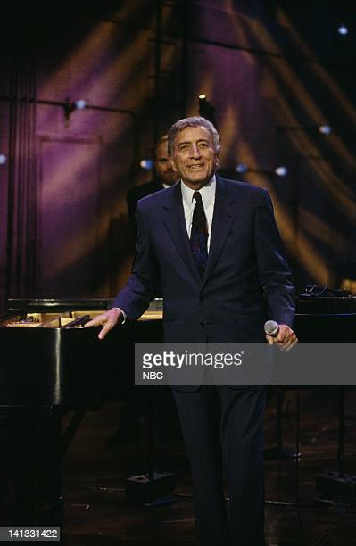 BRIEN Episode 697 Air Date Pictured Jazz singer Tony Bennett performing on December 17 1996 Photo by Mary Ellen Matthews/NBCU Photo Bank