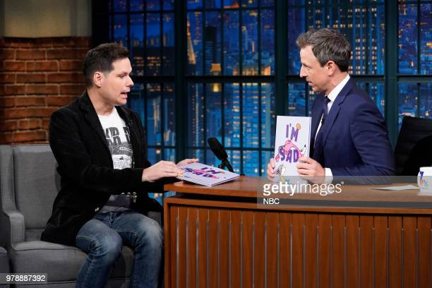 Comedian Michael Ian Black during an interview with host Seth Meyers on June 19 2018