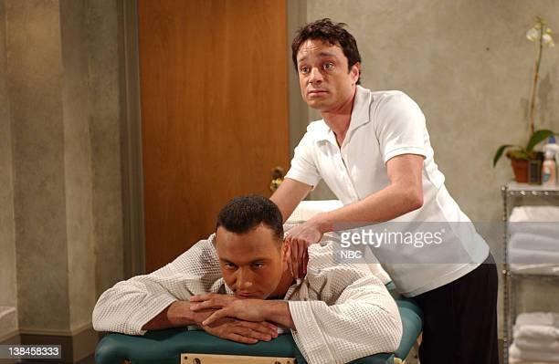 "Episode 7 -- Air Date -- Pictured: Derek Jeter, Chris Kattan as Gary the Masseur during the ""Musical Masseur"" skit on December 1, 2001"