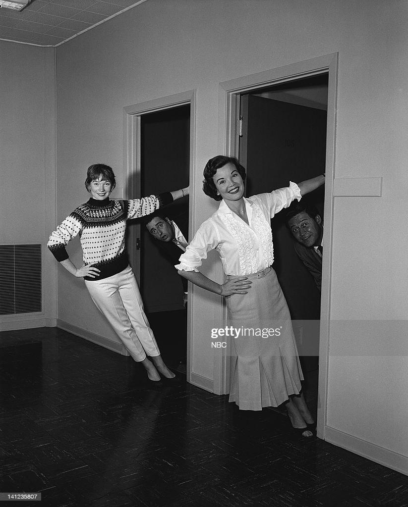 SHOW -- Episode 7 -- Air date -- Pictured: (l-r) Actress Shirley MacLaine, Comedian Dick Martin, actresss Nanette Fabray, comedian Dan Rowan -- Photo by: Paul W. Bailey/NBCU Photo Bank