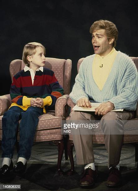 LIVE Episode 7 Aired Pictured Macauley culkin as Kyle Smalley Al Franken as Stuart Smalley during Dailey Affirmation skit Photo by Alan Singer/NBCU...