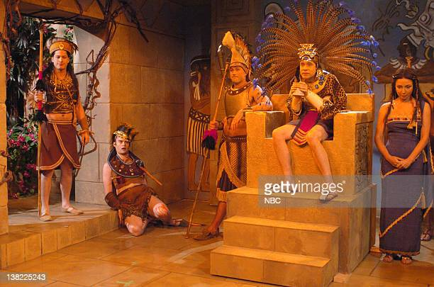 LIVE Episode 7 Aired 12/2/2006 Pictured Andy Samberg as warrior Bill Hader as warrior Matthew Fox as general Fred Armisen as King Kinich Yax K'uk'...